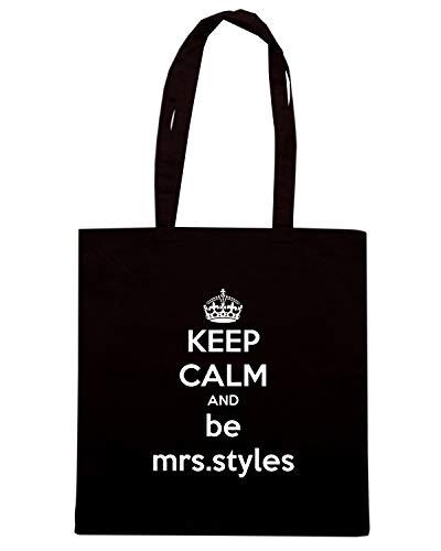 Speed Shirt Borsa Shopper Nera TKC0704 KEEP CALM AND BE MRS STYLES