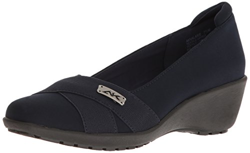 discount recommend cheap outlet store Anne Klein Women's Valarie Fabric Wedge Pump Navy official cheap price free shipping finishline vtGxYN1HP
