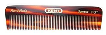 Kent FOT 4 1/2'' 113 mm Handmade Comb. All Fine Pocket Comb (3 PACK) by Kent
