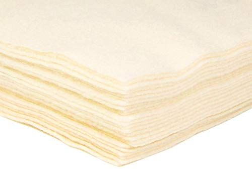 Acrylic Felt Ivory/Cream/Antique White Felt Sheets 9x12 Felt Sheets for Crafts, Nonwoven Fabric Sheets, Great Felt for Crafts, Patchwork Sewing, Costumes-6 PC Felt Sheets Antique White Felt Packs