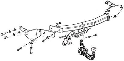 Bosal Oris Attelage Jeep Renegade boitier /électronique 09//14- Faisceau Universel 7 Broches RDSOV