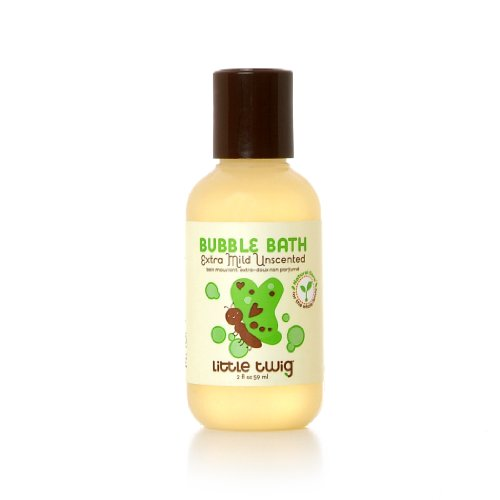 Little Twig All Natural, Hypoallergenic, Extra Mild Bubble Bath for Sensitive Skin, Unscented, 2 Ounce Bottle