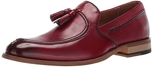 STACY ADAMS Men's Donovan Tassel Slip-On Loafer Oxford Cranberry 10.5 W US