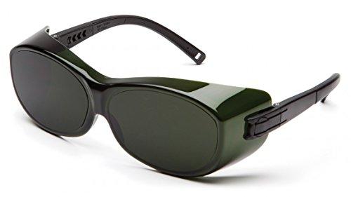 Pyramex S3550SFJ OTS Over Prescription Welding Safety Glasses, 5.0 IR Filter Lens, - 5 Shade Glasses
