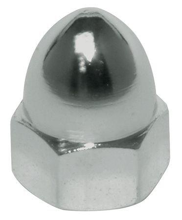 3/8''-16 12L14 Steel Zinc Plated Finish High Crown Acorn Nuts, 10 pk.