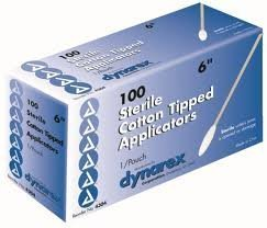 - Cotton Tipped Applicators, Sterile, 6