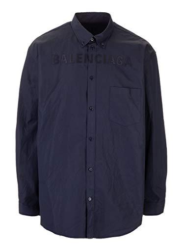 Balenciaga Luxury Fashion Mens 583989TYB184100 Blue Shirt | Fall Winter 19