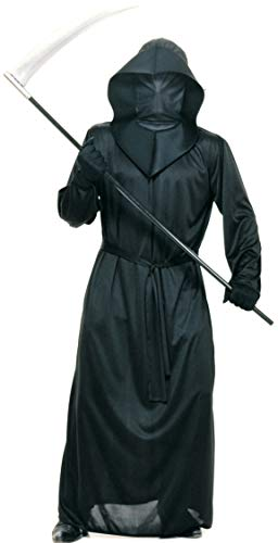 Rubie's Costume Halloween Concepts Black Mesh Face Robe, Black, Standard -