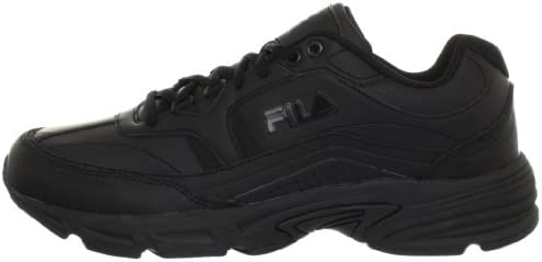 31UWfVDwNJL. AC Fila Men's Memory Workshift Slip Resistant Work Shoe    Feel comfortable without sacrificing performance and protection in your work day with the Fila Memory Workshift slip resistant safety shoe. Where premium meets utility, the Memory Workshift is constructed from durable leather and synthetic overlays to give you a dependable work shoe that meets your occupational needs. Our Fila Memory Workshift shoe features a rubber slip resistant outsole to provide traction against slick or wet surfaces – tested in accordance with the applicable industry standards, including: ASTM F2913-11. Though designed to help prevent slips, you should always exercise caution on slick surfaces.
