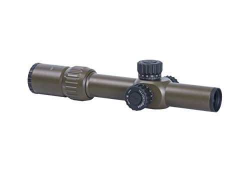 Monstrum Tactical G3 1-6x24 First Focal Plane (FFP) Rifle Scope with Illuminated MOA Reticle (Olive Drab Green)