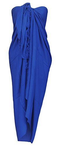 (Sarong Wrap From Bali Your Choice of Design Beach Cover up (Blue))