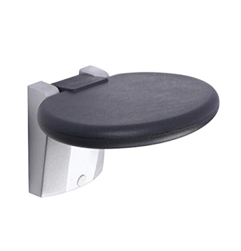 Shower Seat Wall Mounted Folding Bench Stool Medical Foldable Bathroom Seating Chair Fold Up Foldaway 570 lb Weight Capacity for Sauna Room Pregnant Women Elderly Disabled