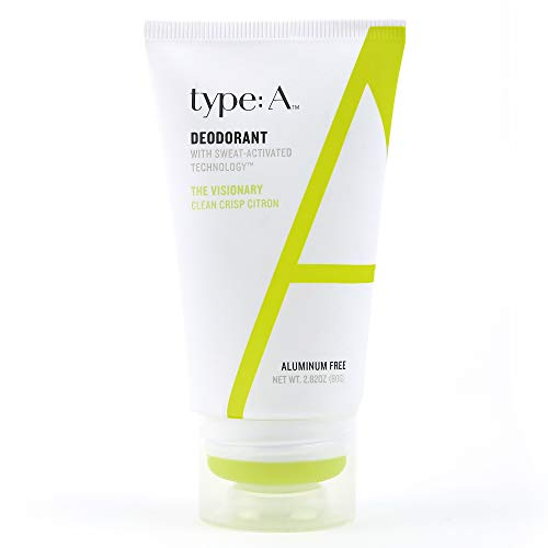 type:A Deodorant - Aluminum Free, Paraben Free, 100% Non-Toxic, Non-Irritating, Clothing-Friendly - Travel-Friendly 2.8 oz (The Visionary)