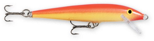 Rapala Original Floater 18 Fishing lure, 7-Inch, Gold Fluorescent Red