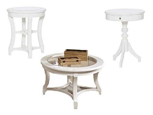 (American Drew Lynn Haven Living Room 3 PC Set with Cocktail Table, Accent Table and End Table )