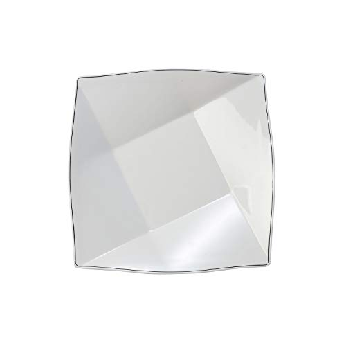(Elite Global Solutions D3311-W Pillowed Square Plate, 12