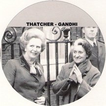 Margaret Thatcher Iron Lady 6 Keychain Collection -
