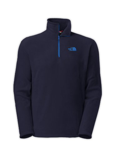 Mens North Face TKA 100 Microvelour Glacier 1/4 Zip Cosmic Blue