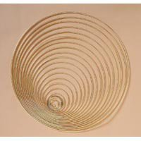 Bulk Buy: Darice Gold Tone Metal Macrame Ring - Gold Metal Craft Rings
