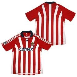 adidas Chivas USA Official Replica Youth Home Jersey - Red/White YOUTH LARGE Chivas Usa Soccer Jersey