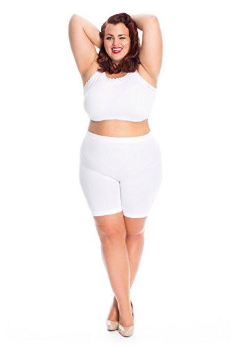 Short Leg Panties (All Woman Plus Size Anti Chafing Short Leg Panties No Riding UP- Single Pair (US20/24 Waist To 48