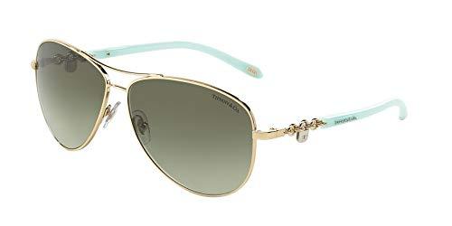 Tiffany TF3034 60213M Pale Gold TF3034 Pilot Sunglasses Lens Category 2 Size 60 (Tiffany Victoria)