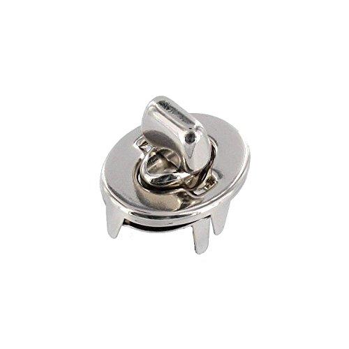 3016 Nickel Plate, Turn Lock, Solid Brass (four piece set)