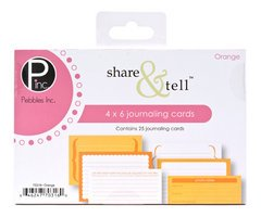 Share Tell Journaling Cards (Pebble 4 Inch x6 Inch Share & Tell Journaling Cards - 25PK/Orange)