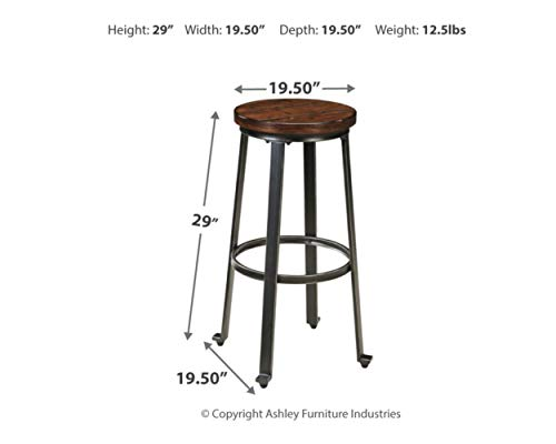 home, kitchen, furniture, game, recreation room furniture,  home bar furniture 2 picture Signature Design by Ashley - Challiman Bar Stool - Pub deals