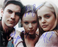 Signed American Beauty 8x10 by Wes Bentley, Thora Birch and Mena Suvari autographed by Powers Collectibles