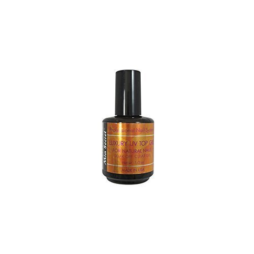 Mia Secret Luxury UV Top Coat Gel For Natural Nails Soak Off Clear Gel 1/2 Oz ()
