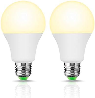 LOHAS E27 LED Smart Bombilla, 10W=50W A60 WiFi bombilla, compatible con Amazon Alexa, Google Home, blanca cálida 3000K, 980LM, regulable a través de la app, ...