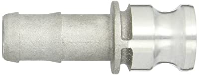 "Dixon Valve 125-E-AL Aluminum 356T6 Boss-Lock Type E Cam and Groove Fitting, 1-1/4"" Male Coupling x 1-1/4"" Hose ID Barbed"