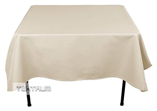 """UPC 892389004782, TEKTRUM 70 X 70 INCH 70""""X70"""" SQUARE POLYESTER TABLECLOTH - THICK/HEAVY DUTY/DURABLE FABRIC - WHITE COLOR"""
