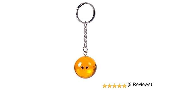 2S) LLavero 3D Dragon Ball Z (2 Estrellas) - Bola de Dragón Z: Amazon.es: Ropa y accesorios