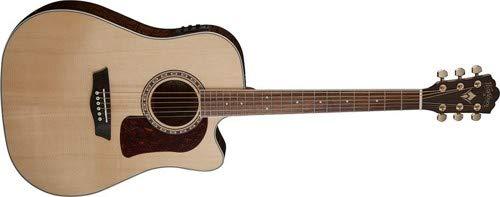 Washburn 6 String Acoustic-Electric Guitar, Natural Gloss (HD30SCE-O) by Washburn