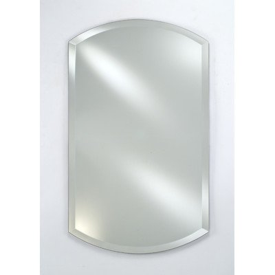 Afina SD2026RDBA-BV Single Door Recessed Double Arch Beveled Medicine Cabinet, 20