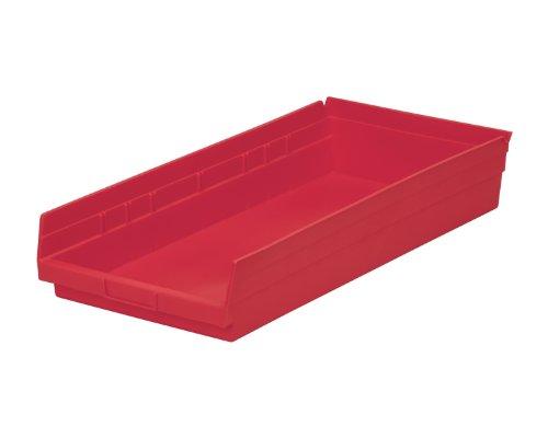 Akromils Storage And Organization Shelf Bins Red 6Pk - 23.62x 11.12x 4