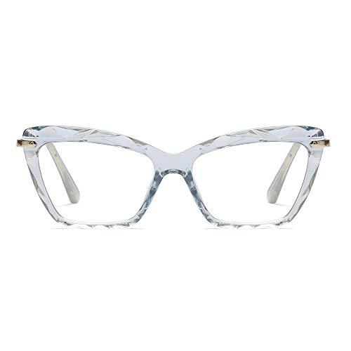 Cat Eye Reading Glasses Frame Crystal Womens Quality Readers Glasses (Blue, 2.5)