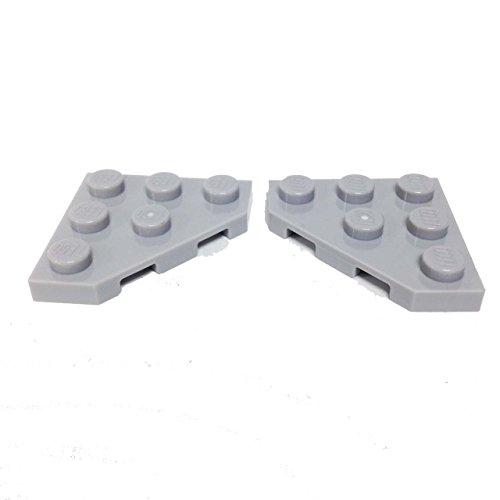 Lego Parts: Wedge, Plate 3 x 3 Cut Corner (PACK of 2 - LBGray)