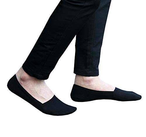 No-Show Socks Mens Summer Low Cut Reduces Sweaty feet Premium Cotton Loafer with Anti-Slip
