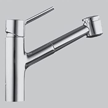 KWC Faucets 10.211.033.127 LUNA Pull Out Kitchen Faucet, Splendure  Stainless Steel