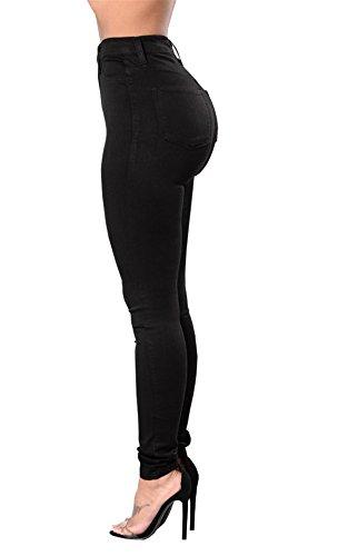 Pantalon Casual Skinny lastique Femmes crayon Mode Haute taille Taille Tenxin Jeans Collant leggings Slim Denim Fille Noir Grande Nouvelle Sexy np0qw81wY
