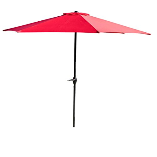 Sipring Patio Umbrella Outdoor Life Solid Color Table Umbrellas Durable Waterproof and Corrosion Resistant (Red) Review