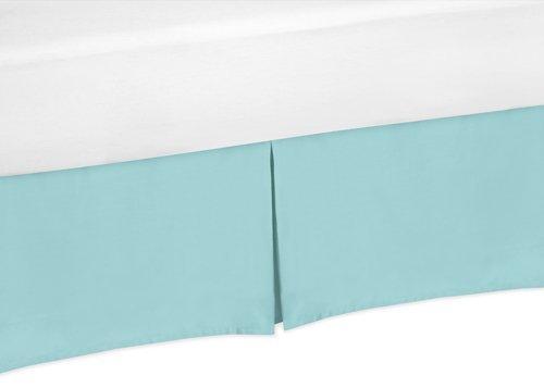 Sweet Jojo Designs Turquoise Toddler Bed Skirt for Modern Emma Kids Children's Bedding Sets by Sweet Jojo Designs