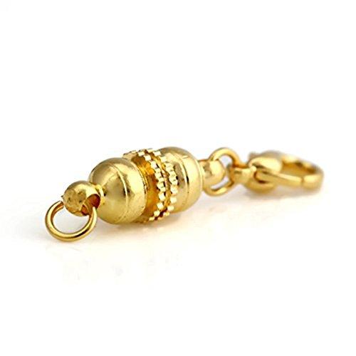 oro LEORX 5 langosta magn/ético cierres para collar pulsera