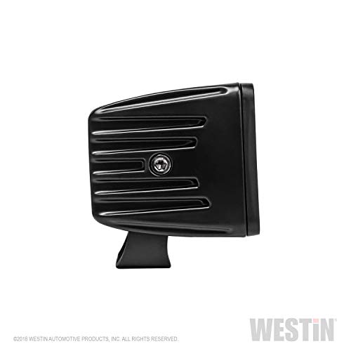 Westin 09-12205B-PR LED Auxiliary Lights Set (Hyper B-FORCE of (2) 3.2 in. x 3 in. 5W Cree Flood beam w/Black faceplate)