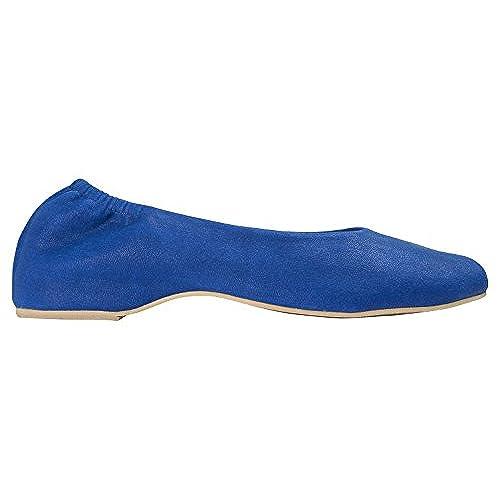 32733c0da545 chic AnnaKastle Womens Vegan Leather Square Toe Elastic Ballet Flats Slip  On Shoes