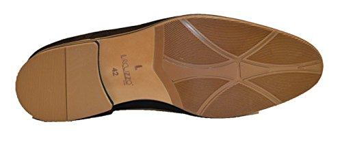 Lacuzzo pour homme en cuir nubuck doux Brouge Chaussures à lacets avec semelle en cuir fin l2550