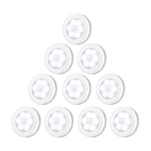 Criacr Bewegingssensor Nachtlampje, 10 Pack Kastverlichting, LED Lamp voor Opbergkast met Verwijderbare Magneet…